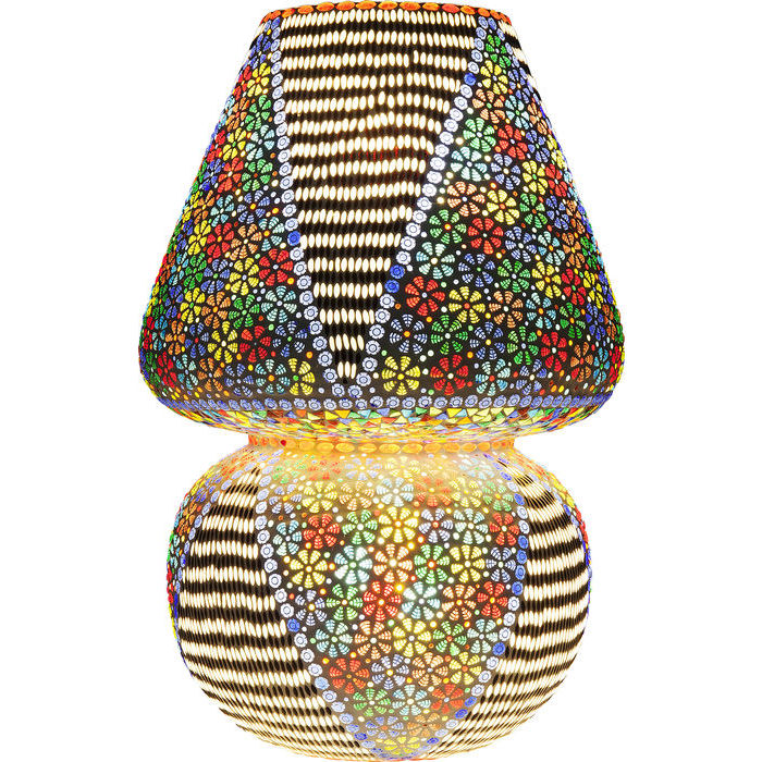 Image of   KARE DESIGN Bordlampe, Mosaic Flowers Colore 60 cm