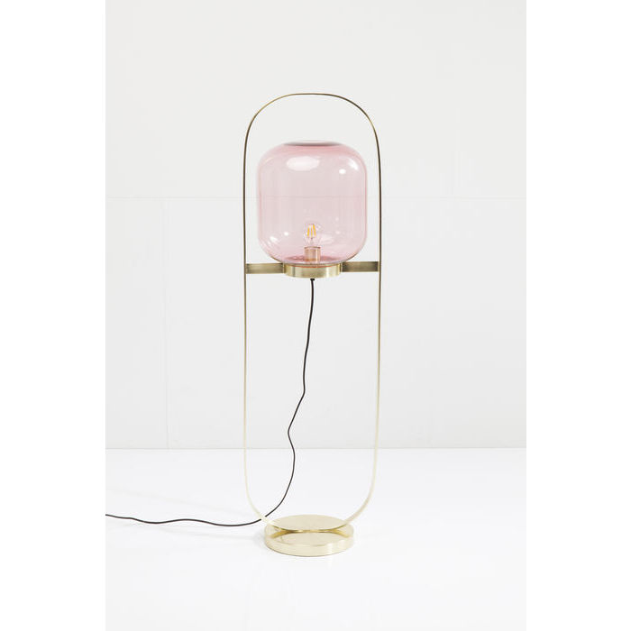 KARE DESIGN Gulvlampe Jupiter Pink-Messing