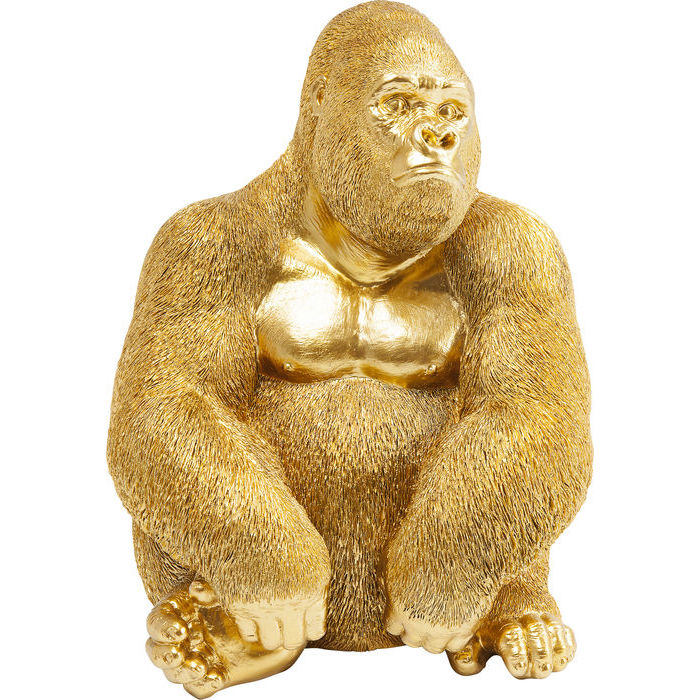 KARE DESIGN Figur, Monkey Gorilla Side XL Guld