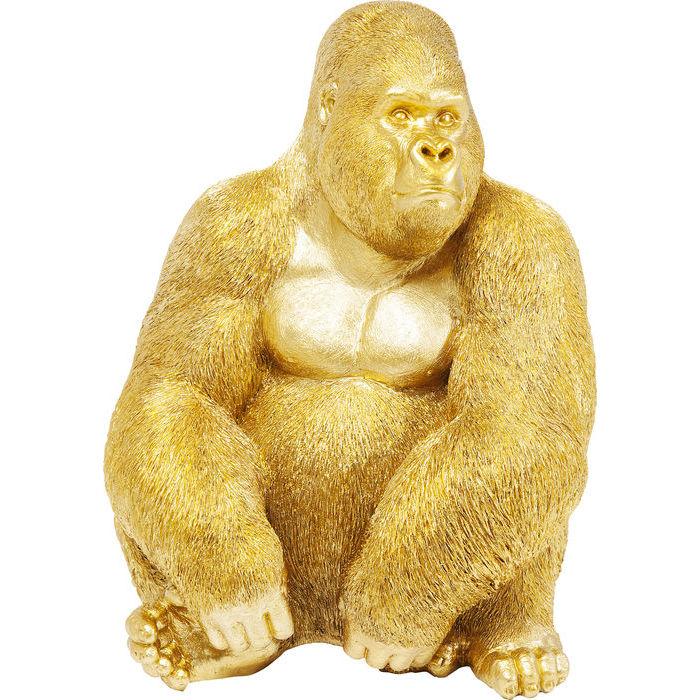 KARE DESIGN Figur, Monkey Gorilla Side Medium Guld