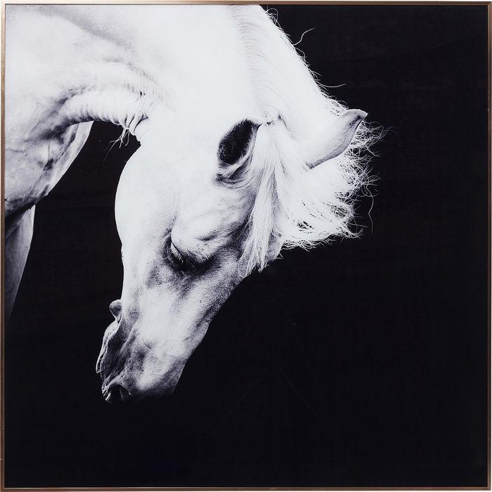 Image of   KARE DESIGN Billede, Frame Alu Proud Horse 100 x 100 cm