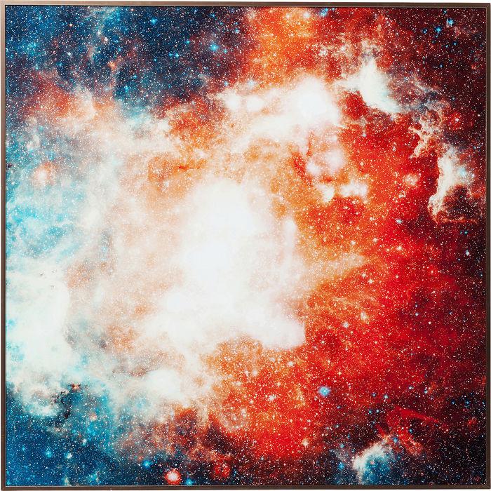 Image of   KARE DESIGN Billede, Frame Alu Cosmos 80 x 80 cm