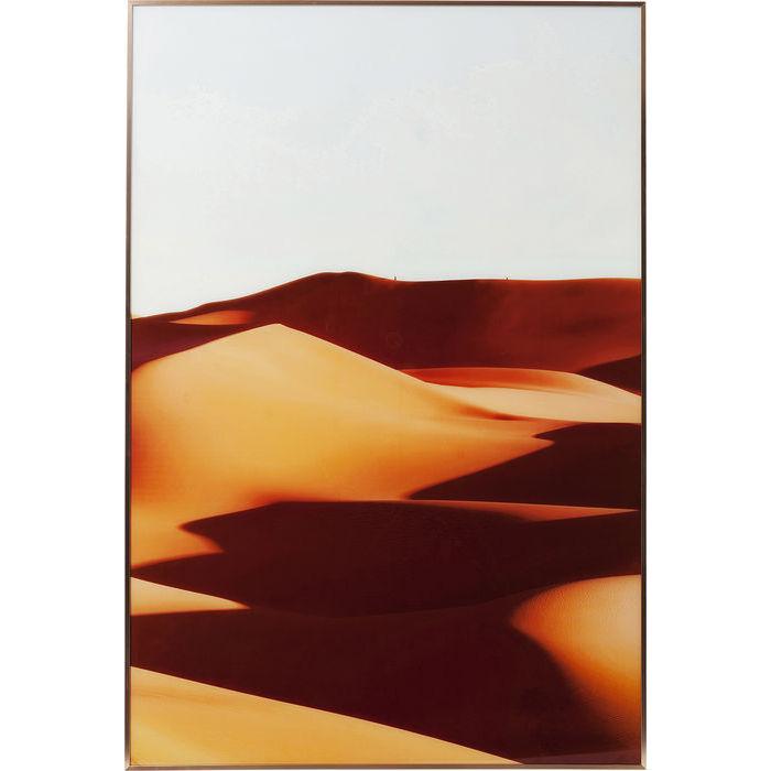 Image of   KARE DESIGN Billede, Frame Alu Desert Shadow 80 x 120 cm
