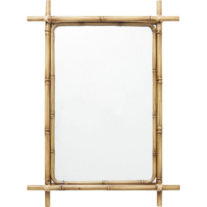 Kare design bamboo spejl - spejlglas og rattan, 75x55 fra kare design på boboonline.dk