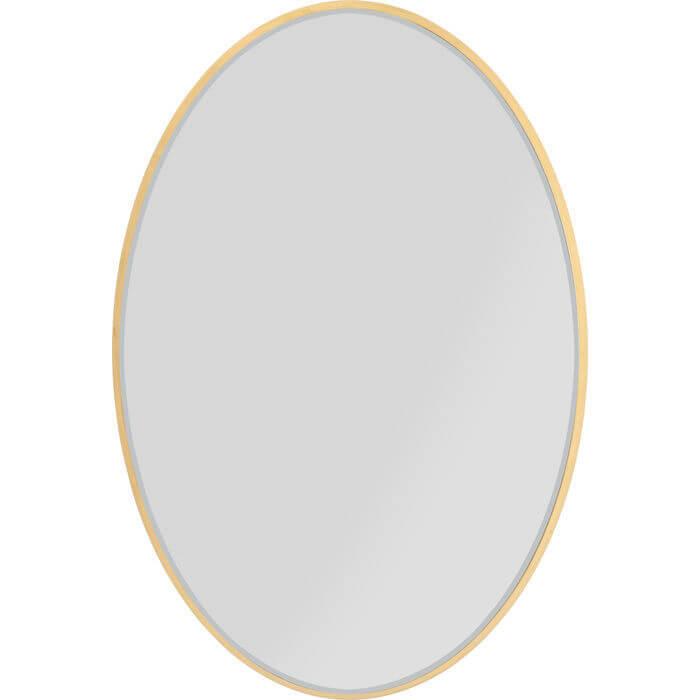 kare design – Kare design jetset spejl - spejlglas og guldfarvet mdf, oval (94x64) fra boboonline.dk