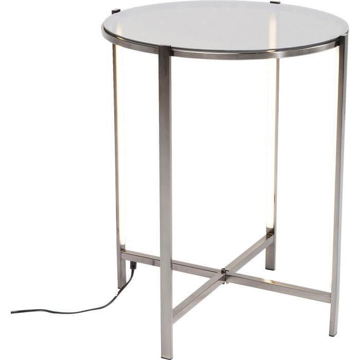 kare design Kare design ashbury sidebord - glas og stål stel, rundt (ø:43,5), m. led lys på boboonline.dk