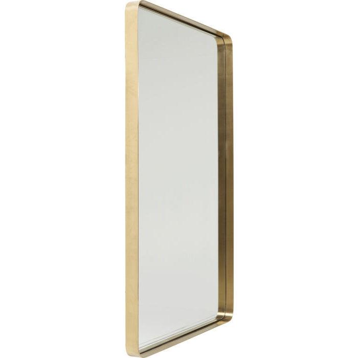 Nye KARE DESIGN Vægspejl Curve Rektangulær Messing 120 x 80 cm FQ-01