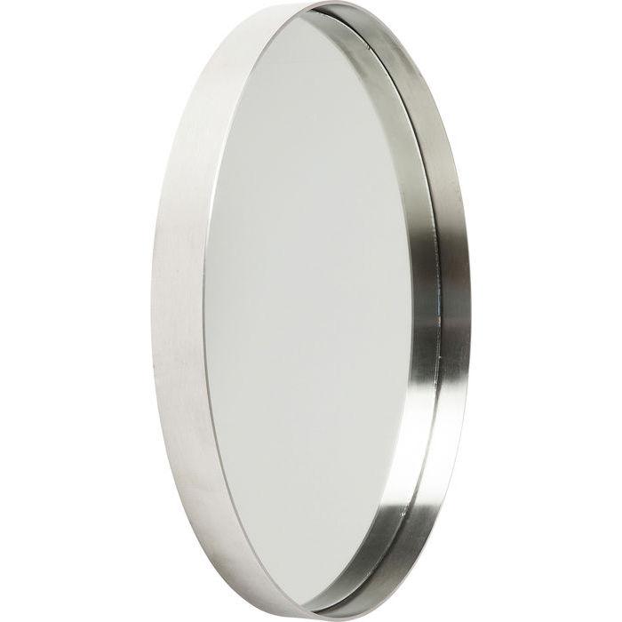 KARE DESIGN Vægspejl Curve Rund Rustfrit Stål Ø60 cm
