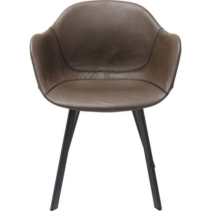 kare design – Kare design stol med armlæn lounge - grå fra boboonline.dk