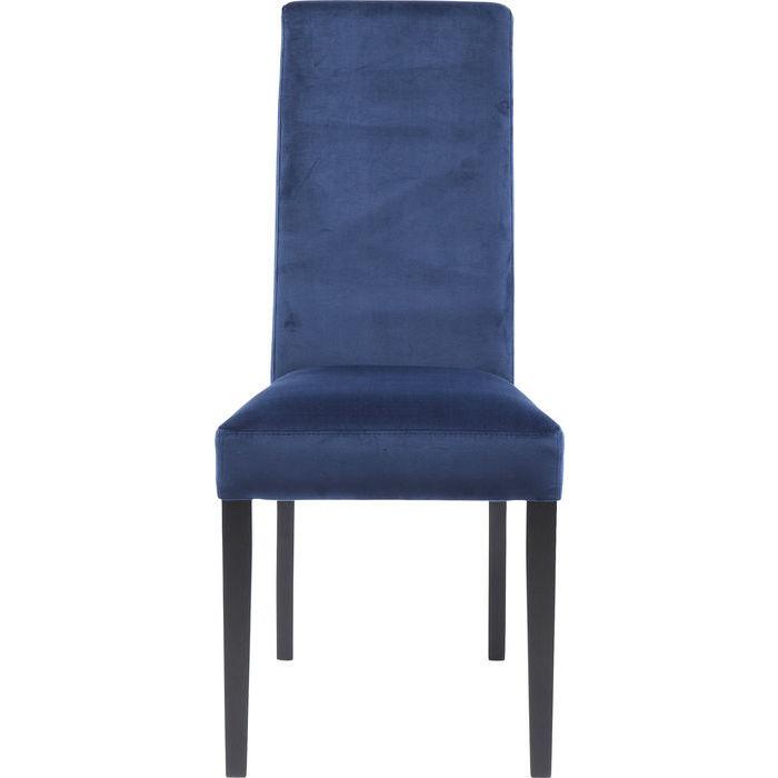KARE DESIGN Spisebordsstol, Econo Slim Velvet Blå