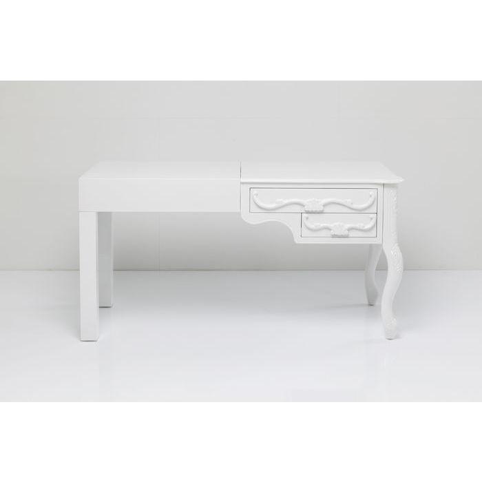 Image of   KARE DESIGN Skrivebord Janus All Hvid, 140 x 60 cm. 2 Skuffer