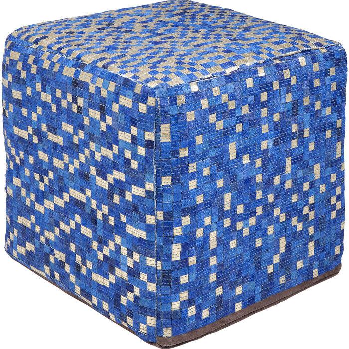 Billede af KARE DESIGN Puf, Pixel Blue 40 x 40 cm