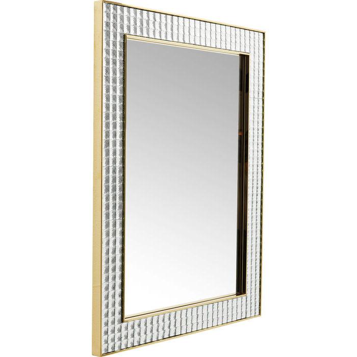 KARE DESIGN Vægspejl Crystals Steel Guld 120 x 80 cm
