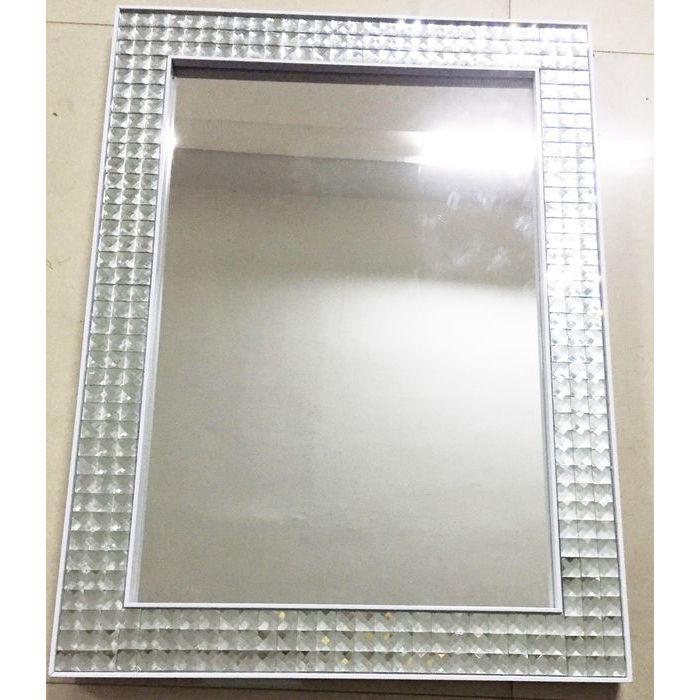 KARE DESIGN Vægspejl Crystals Steel Hvid 120 x 80 cm