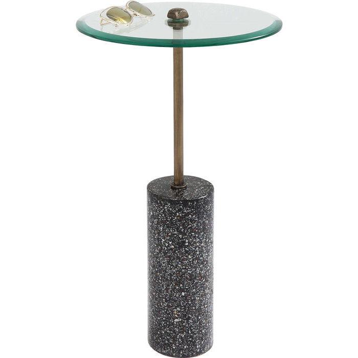 KARE DESIGN Sidebord Terrazzo Visible - Sort 67 cm