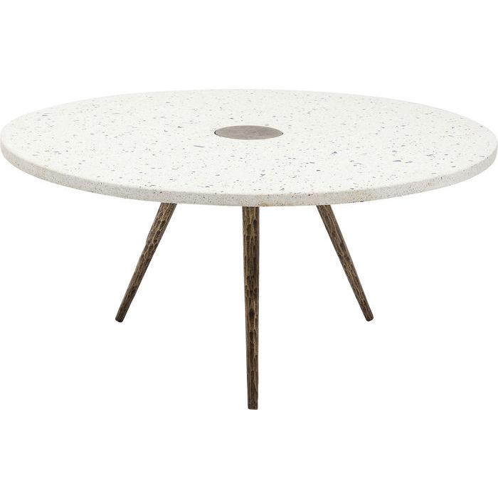 KARE DESIGN Sofabord Terrazzo White Ø92 cm