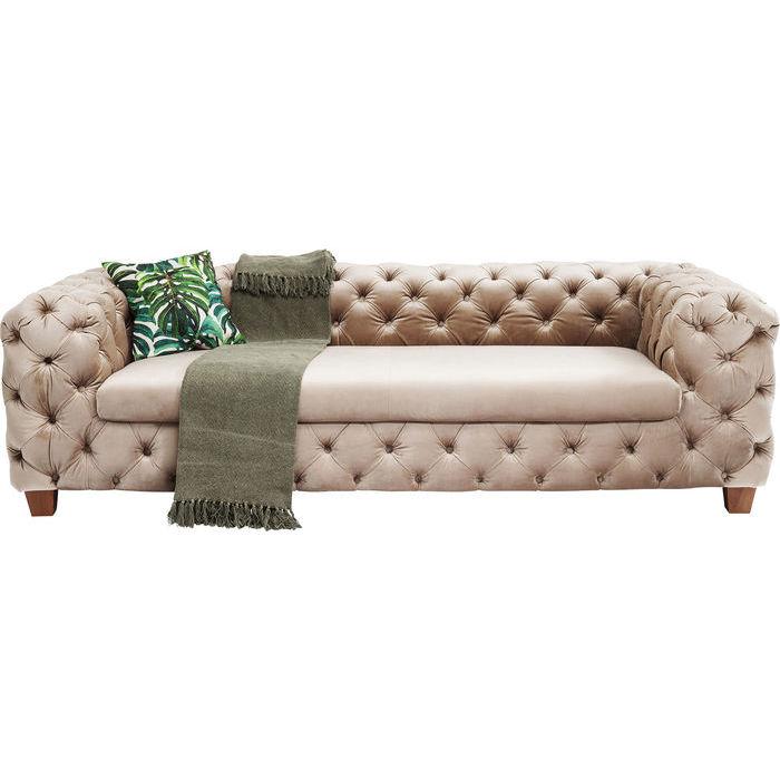 KARE DESIGN Sofa, My Desire Velvet Ecru 3-personers