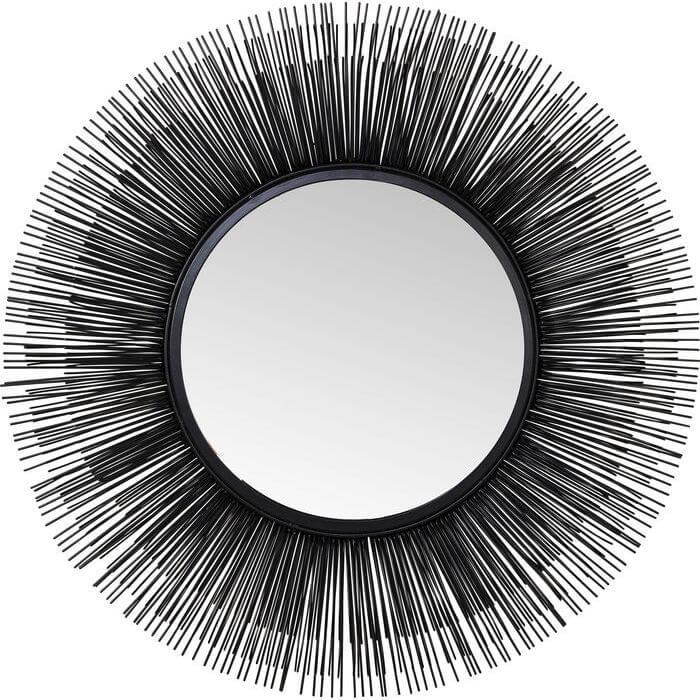 kare design – Kare design sunburst spejl - spejlglas og sort stål, rundt (ø:44) på boboonline.dk