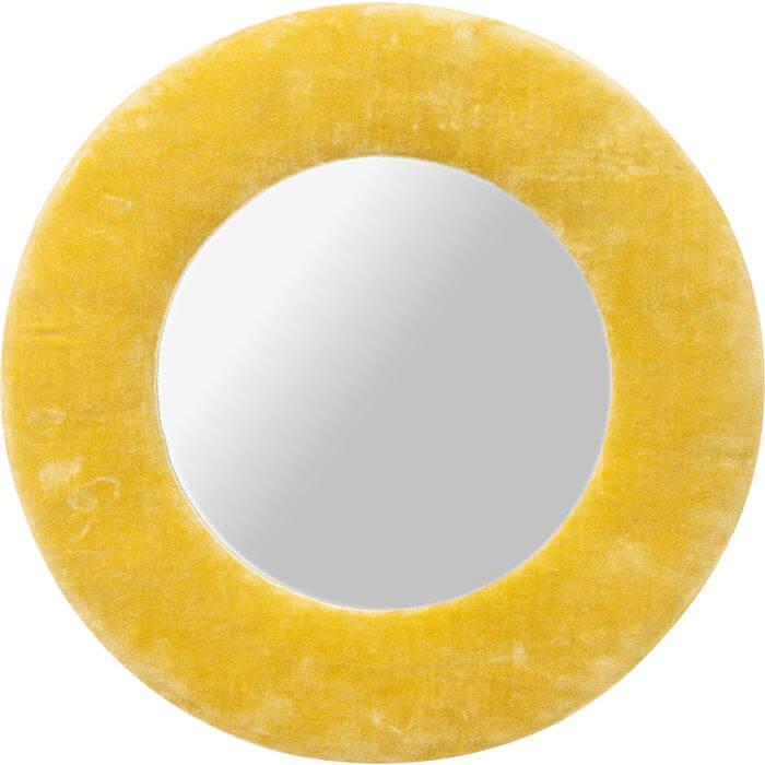 kare design – Kare design cherry spejl - gult bomuld og spejlglas, rundt (ø:50) fra boboonline.dk