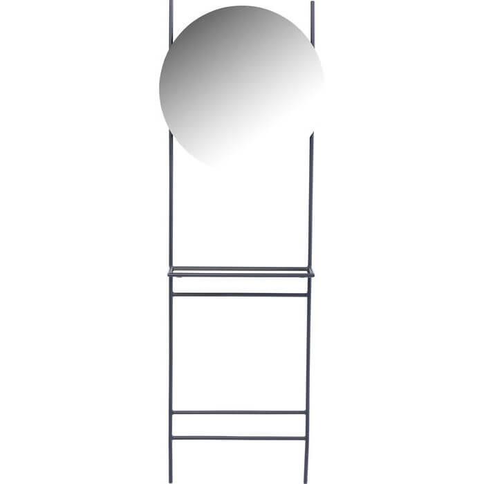 KARE DESIGN Moon stumtjener - sort stål med spejl, rundt (Ø:100)