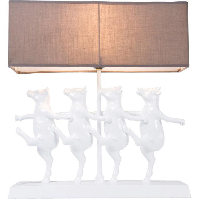 Kare design bordlampe, dancing cows