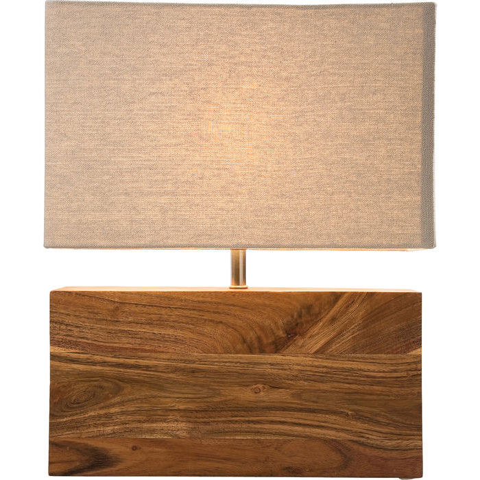 kare design – Kare design bordlampe, rectangluar wood nature på boboonline.dk