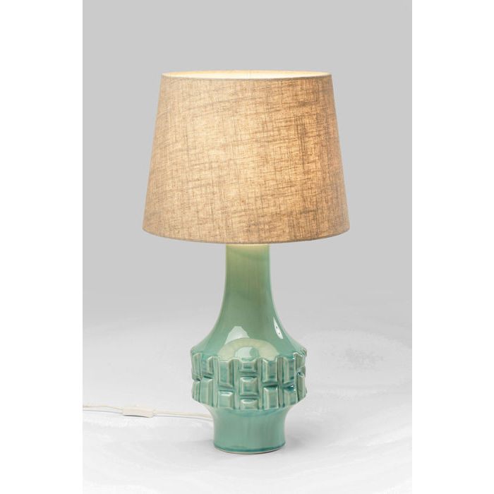 Image of   Kare Design Bordlampe, Cosy Braid Turkis