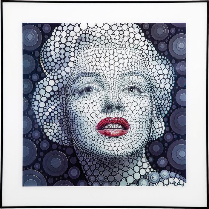 Image of   KARE DESIGN Billede, 3D Marilyn 60x60cm