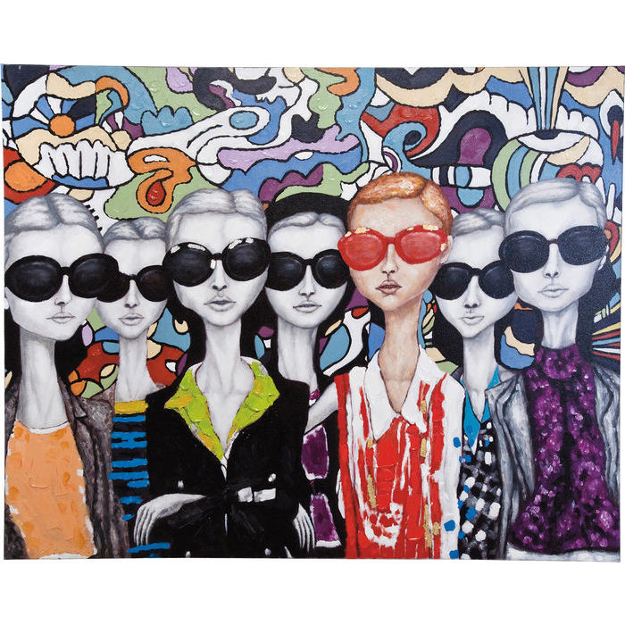 Image of   KARE DESIGN Oliemaleri, Sunglasses 90x120cm