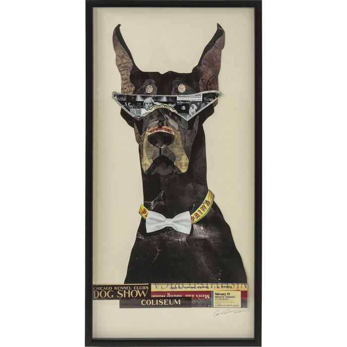 Image of   KARE DESIGN Billede, Frame Art Cool Dog 121x61cm
