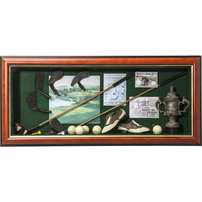 Image of   KARE DESIGN Vægdekoration Deco Shadow Box Golfer