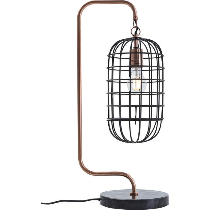 Image of   Kare Design Bordlampe, Golden Cage Roll