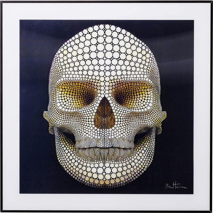 Image of   KARE DESIGN Billede, 3D Skull 60x60cm
