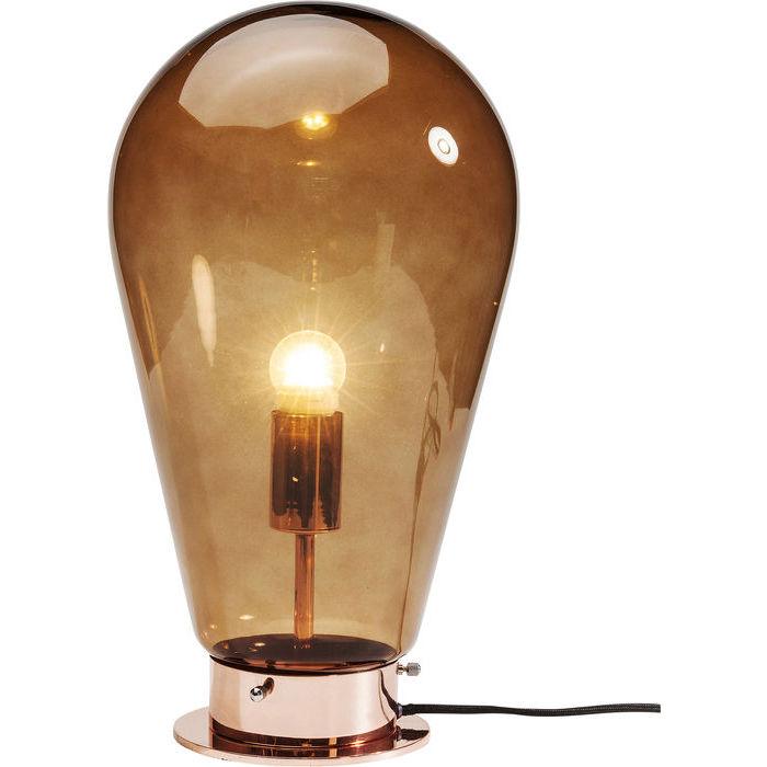 Kare design bordlampe, bulb kobber