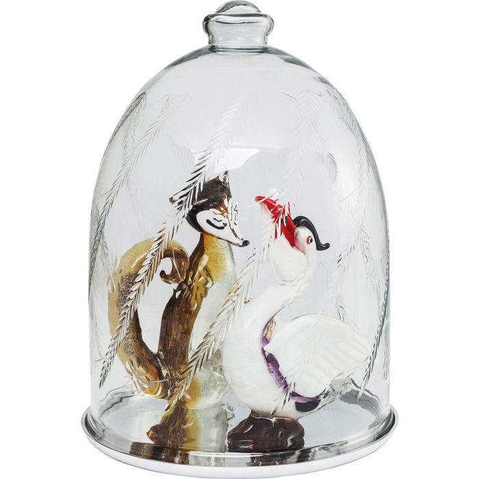 Billede af Kare Design Glasklokke, Pure Glamour Sølv Ø37cm