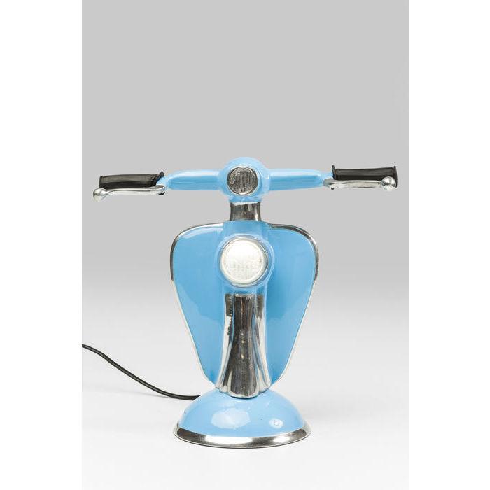 Kare design bordlampe, scooter blå