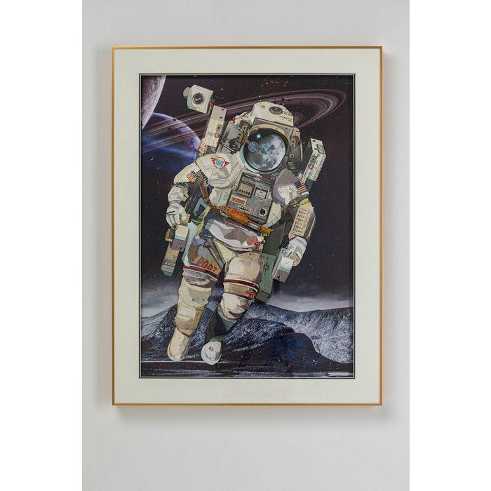 kare design – Kare design astronaut billede - multifarvet/klar kunstpapir/glas og plastik, rektangulær (100x75) fra boboonline.dk