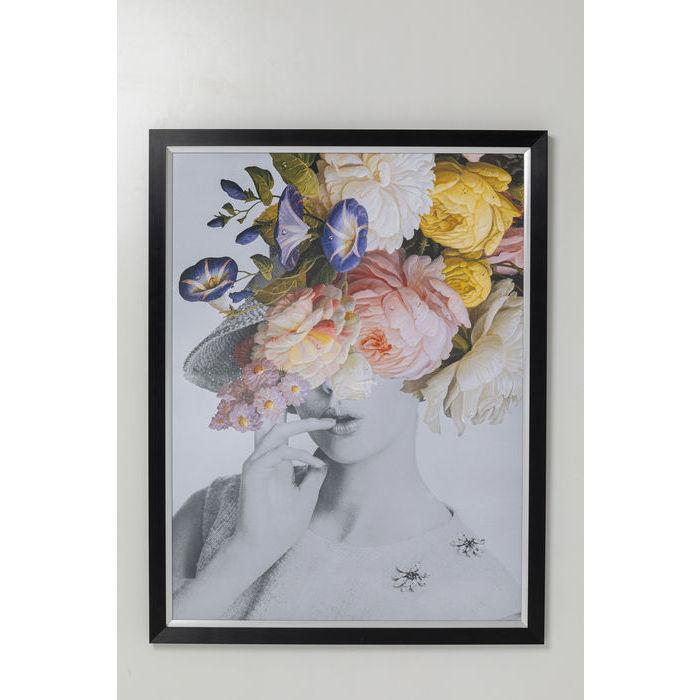 kare design – Kare design flower lady billede - multifarvet/klar kunstpapir/glas og polyresin, rektangulær 152x117 fra boboonline.dk