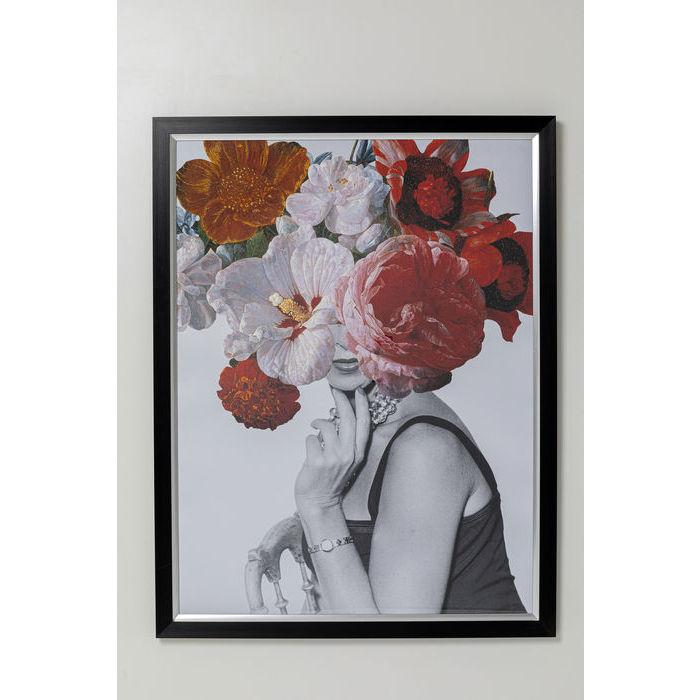 kare design Kare design flower lady billede - multifarvet/klar kunstpapir/glas og polyresin, rektangulær 152x117 fra boboonline.dk