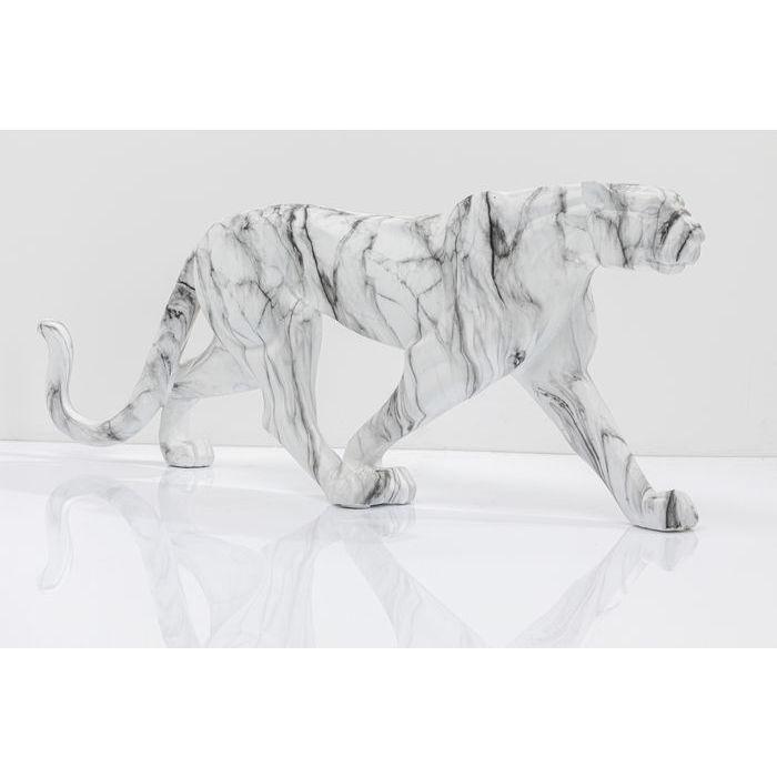 kare design – Kare deisgn leopard figur - hvid/grå/sort glasfiber fra boboonline.dk