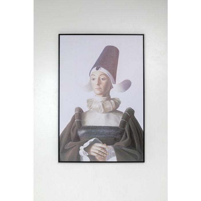 Kare design royal lady billede - multifarvet bomuldslærred og plastik, rektangulær(120x80) fra kare design på boboonline.dk