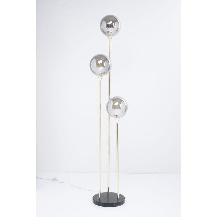 kare design – Kare design al capone tre gulvlampe - guld/sort stål/marmor og farvet glas fra boboonline.dk