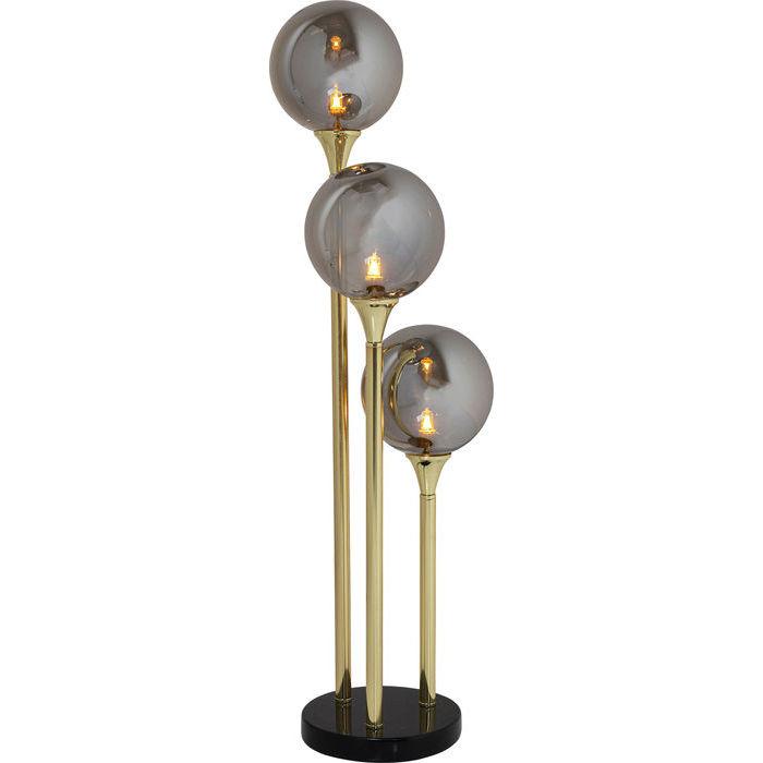 kare design – Kare design al capone tre bordlampe - guld/sort stål/marmor og farvet glas på boboonline.dk