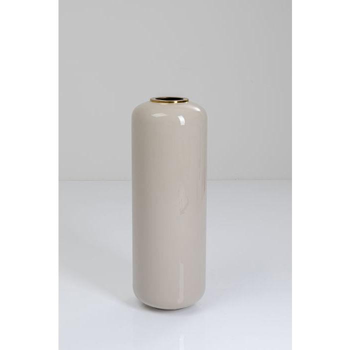 kare design – Kare design charme vase - lysegrå/messing emajle/stål, rund (ø31,5) på boboonline.dk