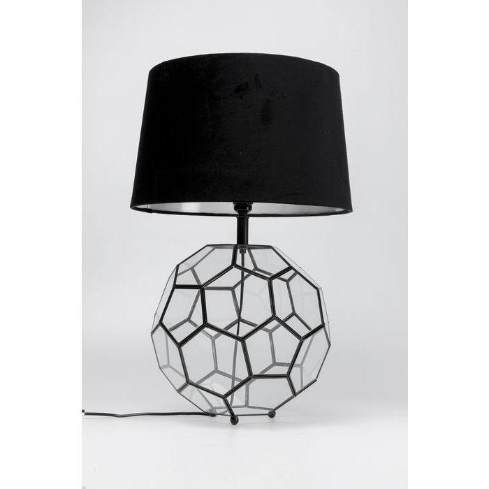 kare design Kare design cubic bordlampe - klar/messing glas/stål og sort bomuld, kubistisk fra boboonline.dk