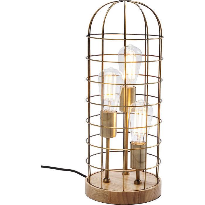 Image of   Kare Design Bordlampe, Cage Tre Wood