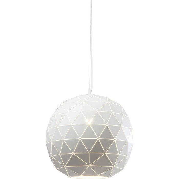 Image of   KARE DESIGN Loftlampe, Triangle Hvid Ø40cm