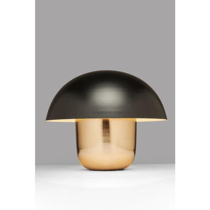 Image of   KARE DESIGN Bordlampe, Mushroom Kobber-Sort
