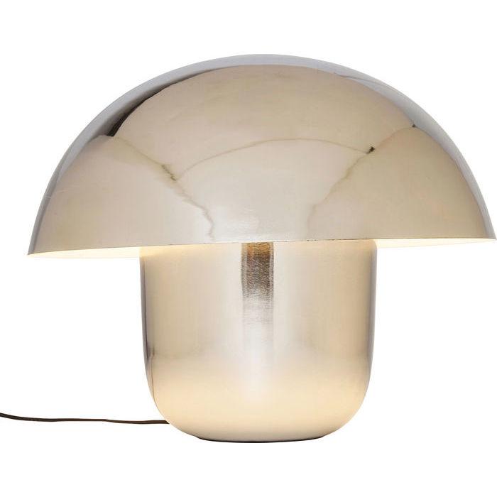 Kare design bordlampe, mushroom krom