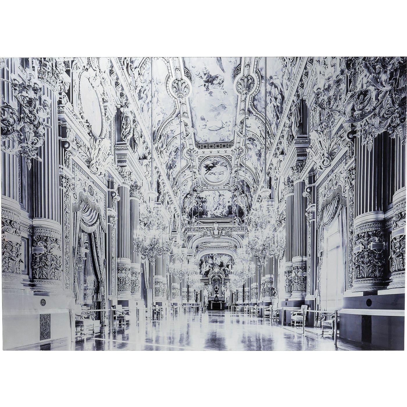 Kare design glass metallic versailles billede - sort/hvid lamineret glas (120x180) fra kare design fra boboonline.dk